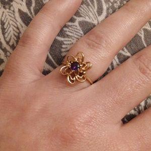10k flower ring